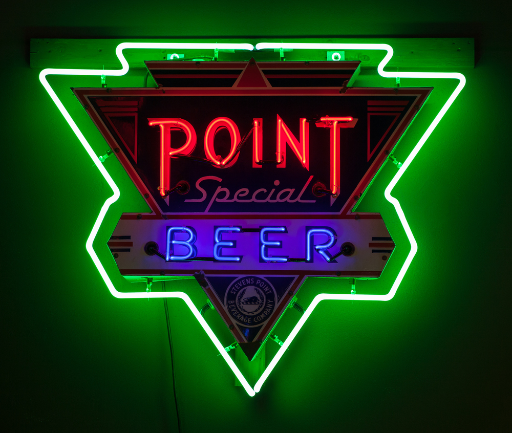 Point Special Beer Neon and Porcelain Enamel Sign