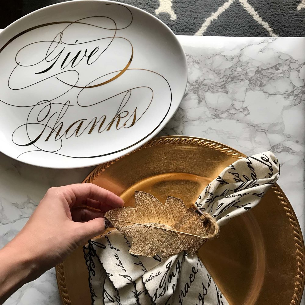 Pier One Blessing Script Napkins | Robyn Wise Dallas Lifestyle Blogger | robynwise.com