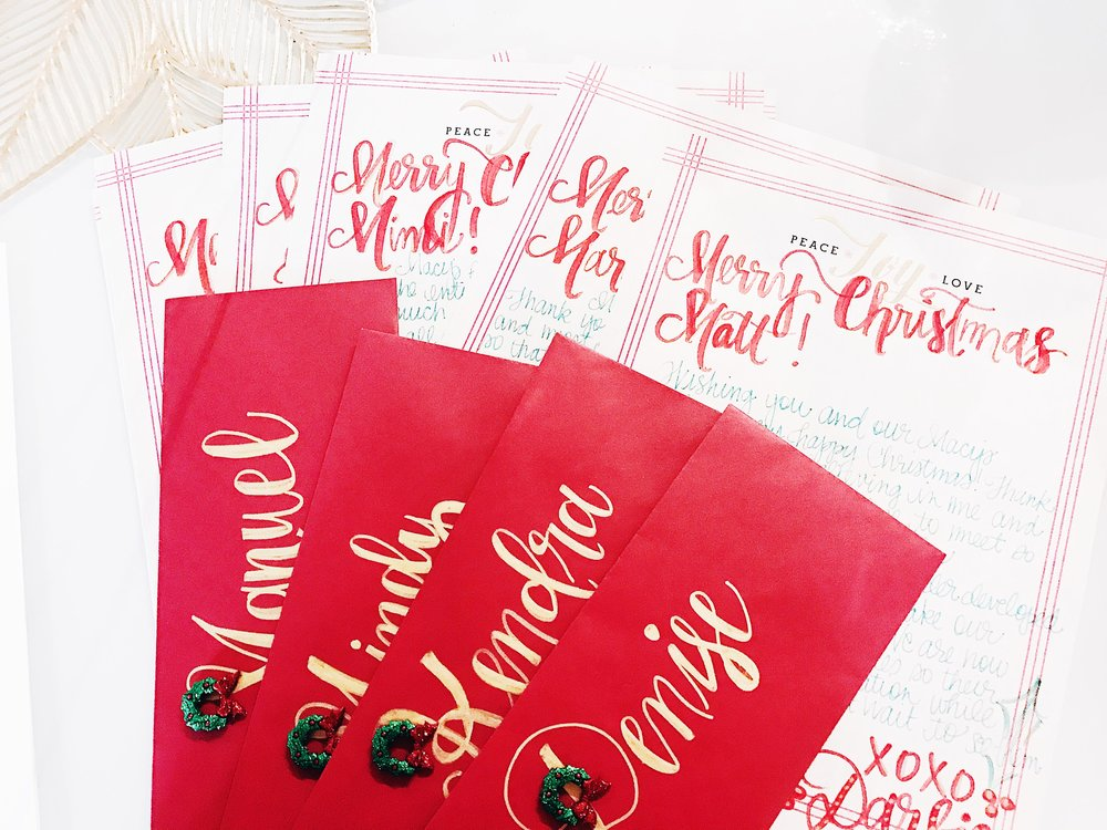 CHRISTMAS CORPORATE LETTERS  -