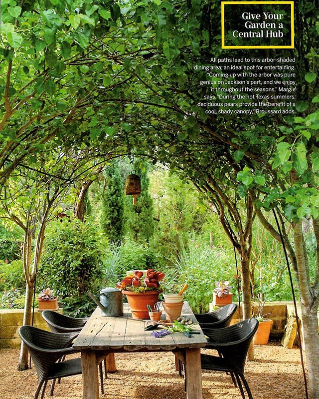 Another great tear sheet from the month's @southernlivingmag of our past projects #pointoffocus #landscapespaces #austinhomes #austingardens #summeroasis