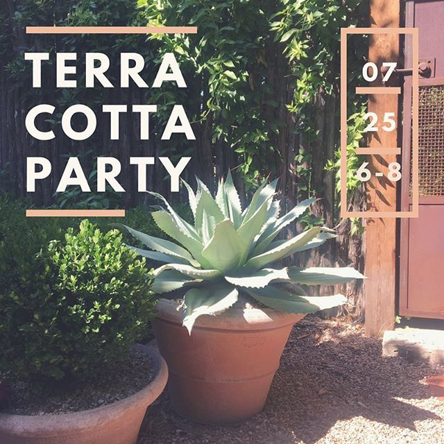 One week and 10 spots left for our #italian #gardenparty to kick off our #terracottapots summer sale! RSVP in bio. Hope to see you #austingardeners next Wednesday!