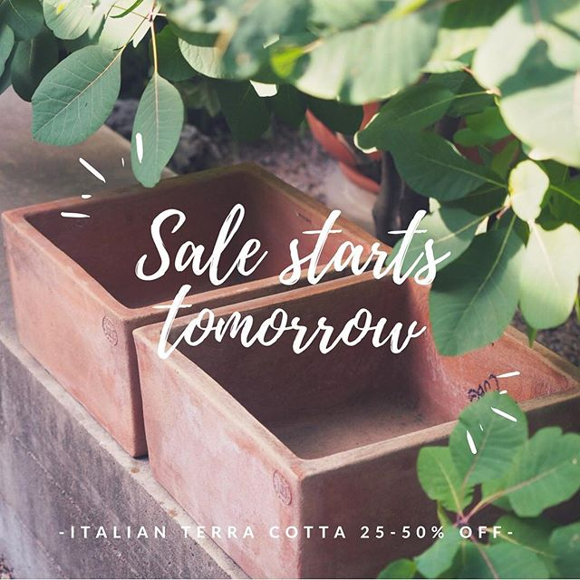 Our #gardenparty preview is tomorrow night. Sales of 25-50% will only last for one week after our kick off party.  RSVP in bio, or email erica@sprout-austin.com to reserve an appointment to shop the sale the following week M-F 12-4.  #terracotta #italytoaustin #italianimports #austinlandscaping