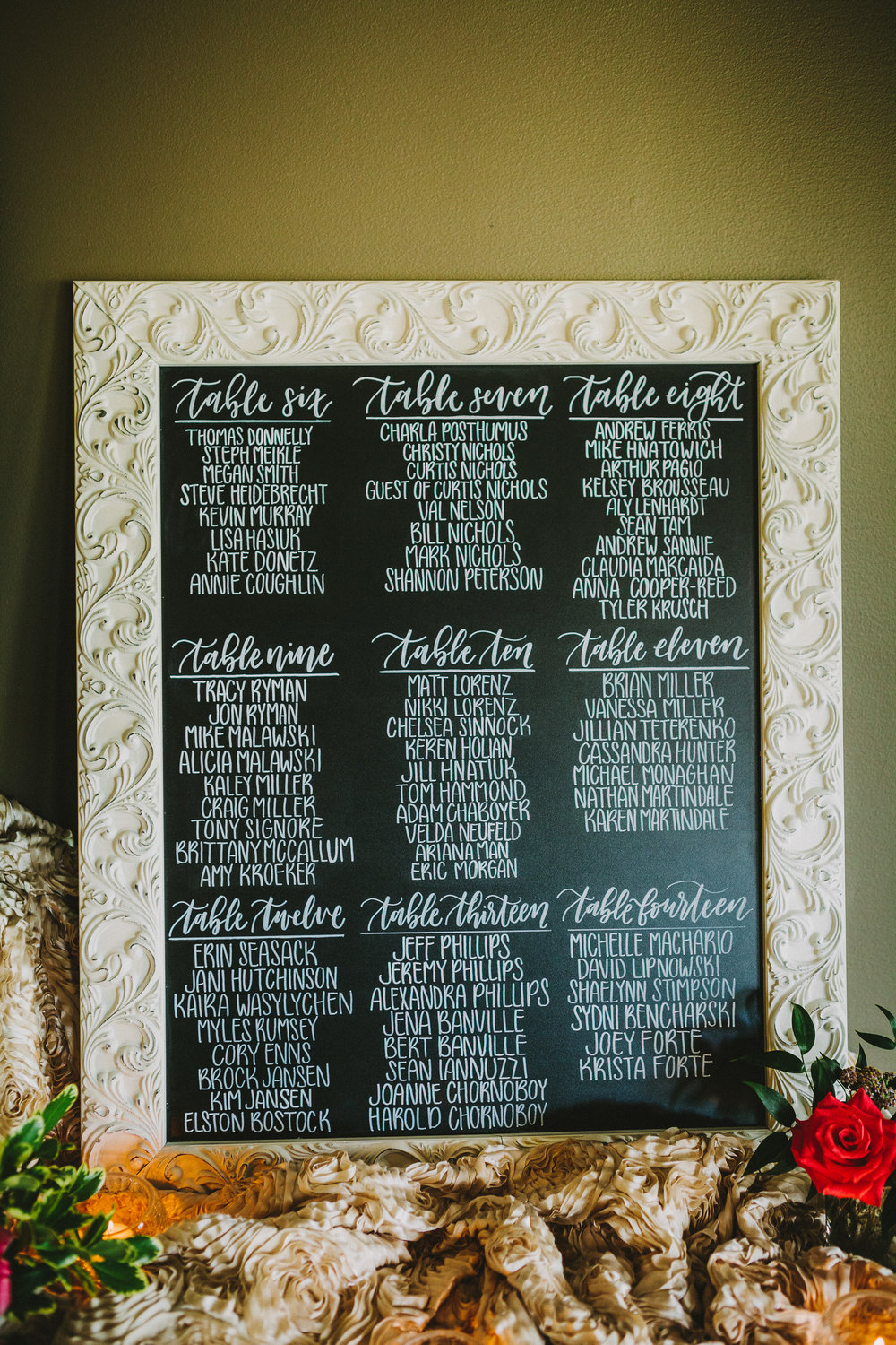 afton and kyle wedding | jennifer bianca calligraphy | shot by kamp photography
