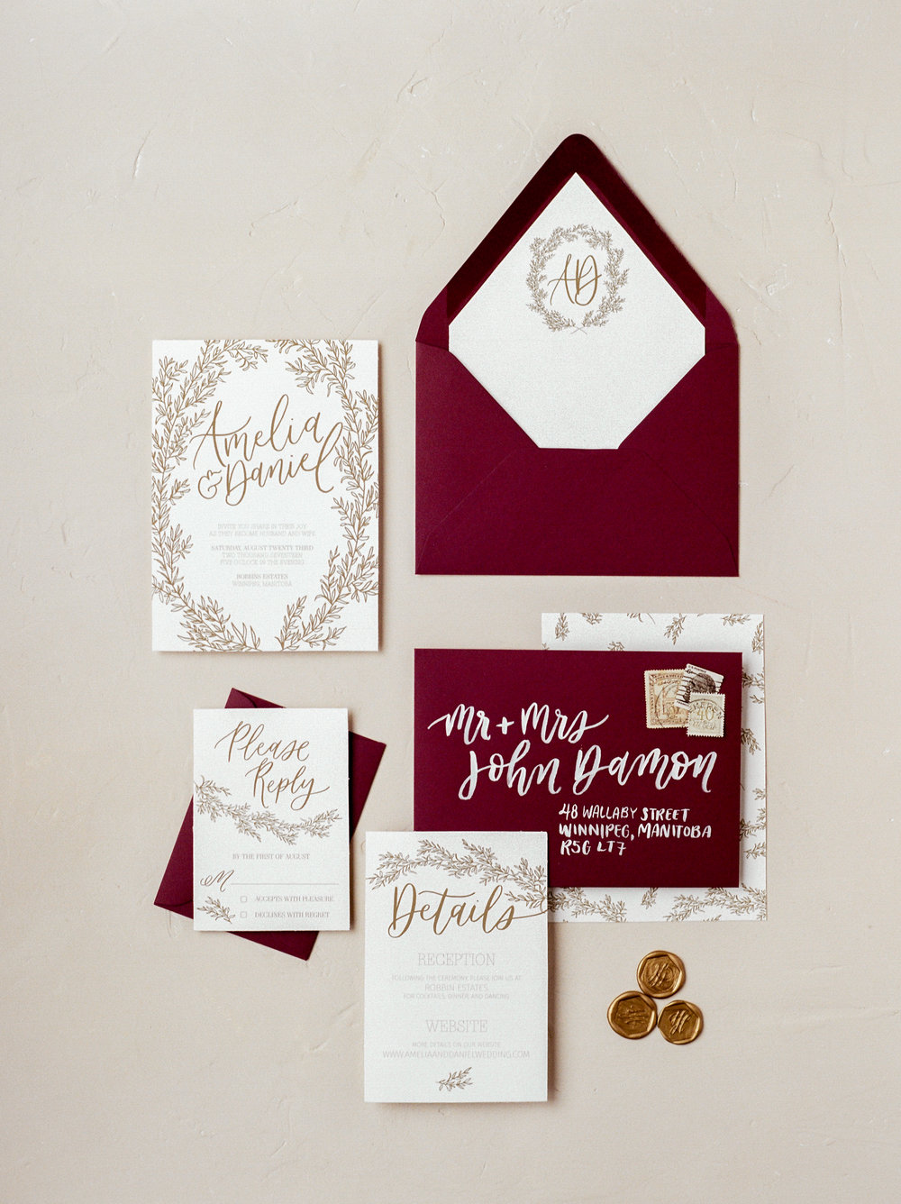 Semi-Custom Stationery Collection — Jennifer Bianca Calligraphy