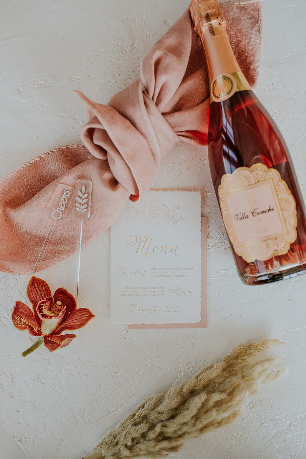 Antique Butterscotch Wedding Styled Shoot Inspiration - Calligraphy and Stationery by Jennifer Bianca Calligraphy
