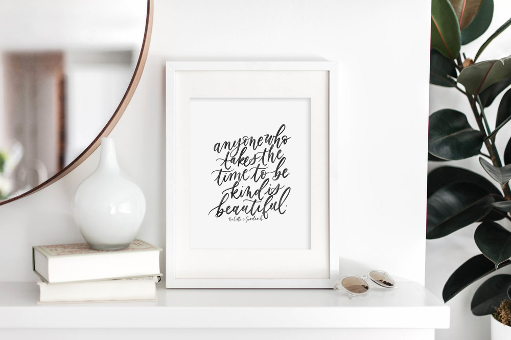 November Free Printable from Jennifer Bianca Calligraphy (jenniferbianca.com)