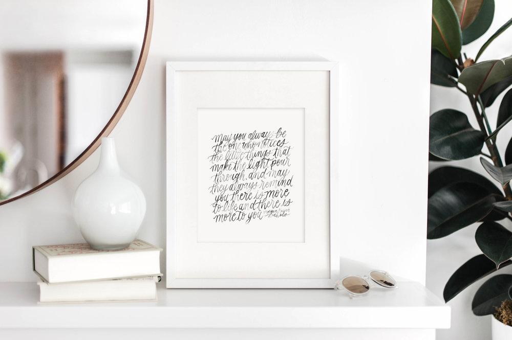 March Free Printable from Jennifer Bianca Calligraphy (jenniferbianca.com)