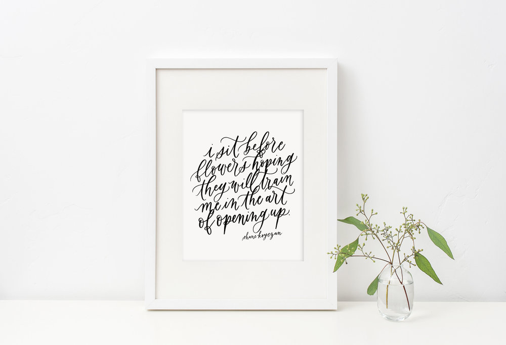 April Free Printable from Jennifer Bianca Calligraphy (jenniferbianca.com)