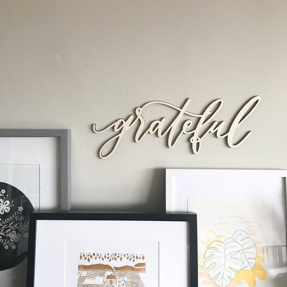 Grateful wood lasercut