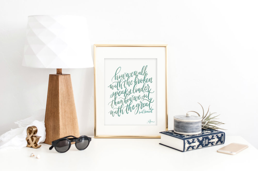 Free calligraphy printable by Jennifer Bianca Calligraphy