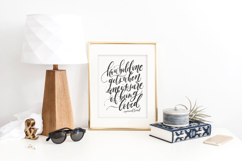 Sigmund Freud quote by Jennifer Bianca Calligraphy