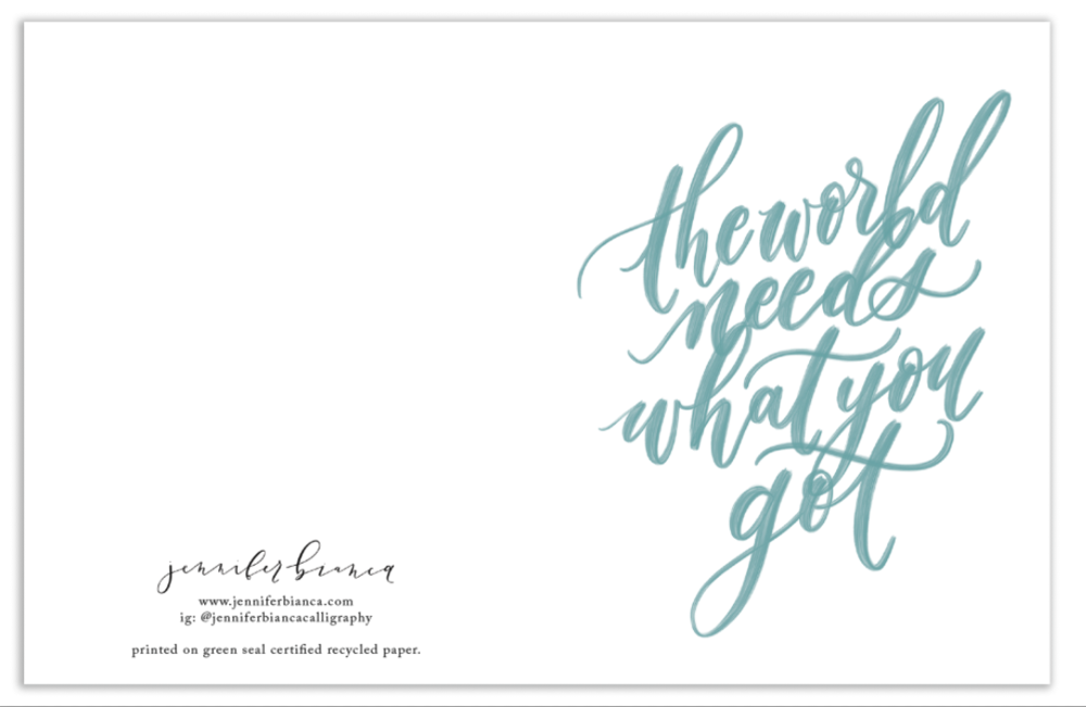 My print and card design process - Jennifer Bianca Calligraphy