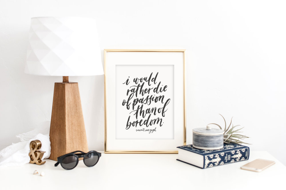 Van Gogh quote by Jennifer Bianca Calligraphy