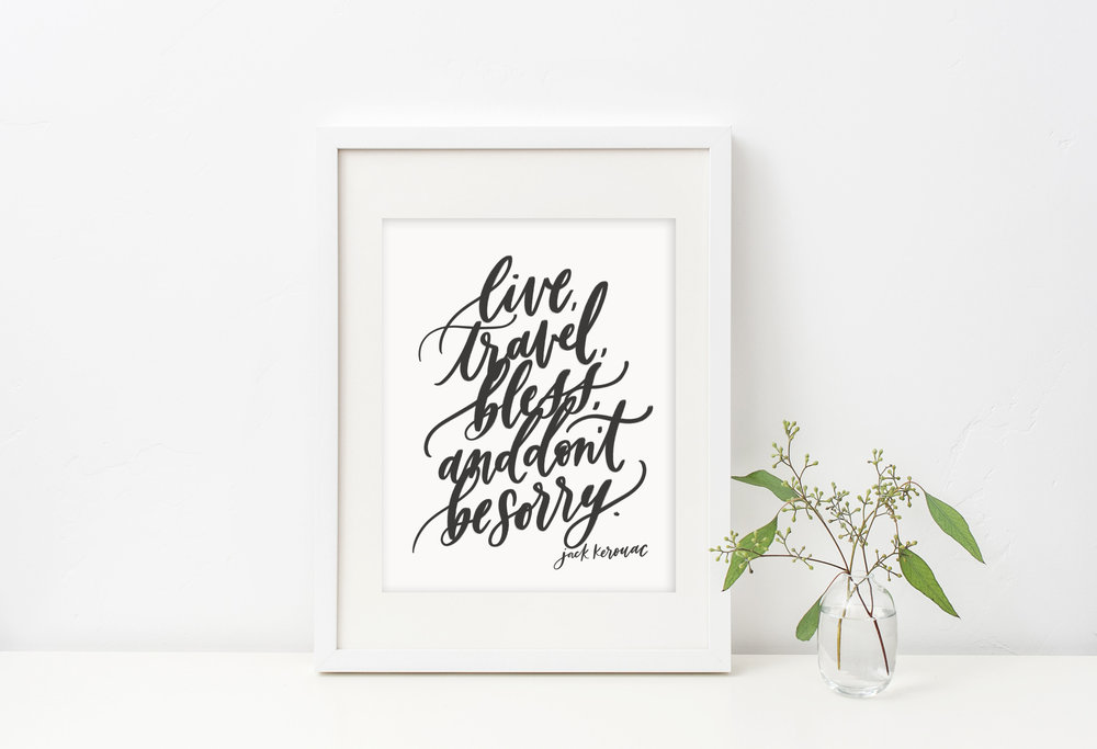 Jack Kerouac quote by Jennifer Bianca Calligraphy