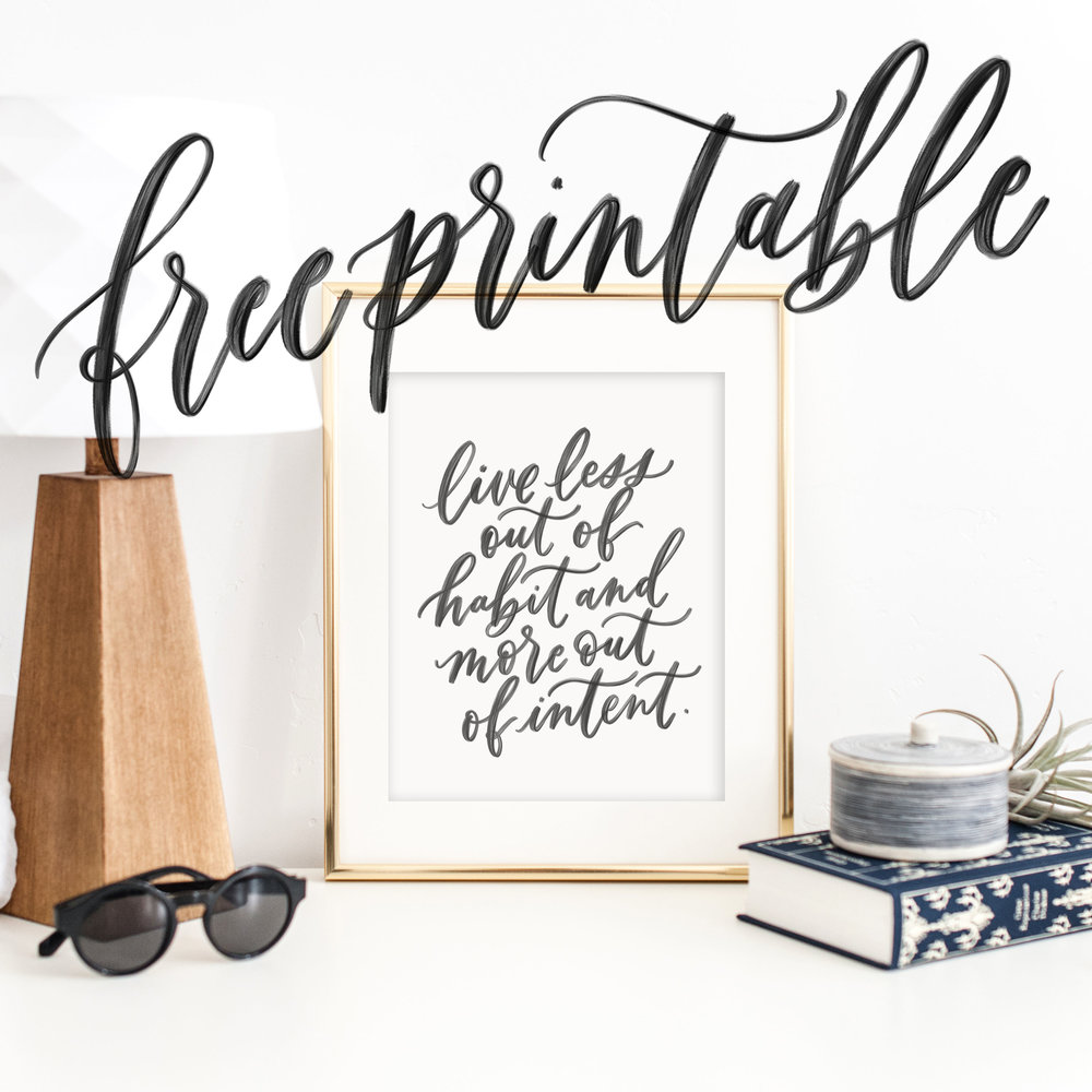 free calligraphy printable from jenniferbianca.com | motivational quote