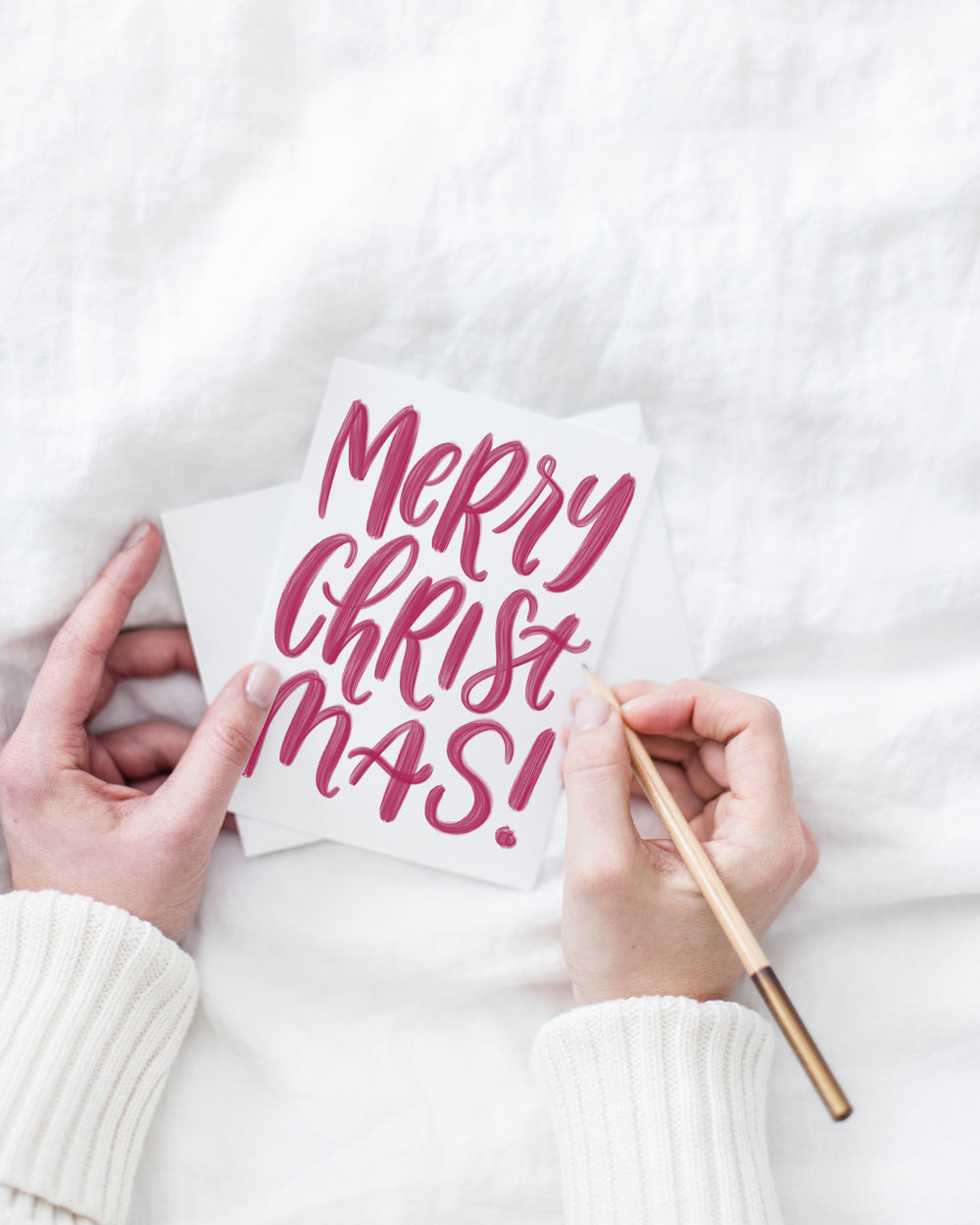 holiday cards by jennifer bianca | jenniferbianca.com  | calligraphy christmas cards