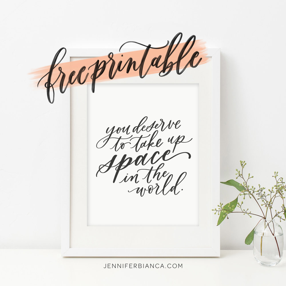 Free Printables from Jennifer Bianca Calligraphy