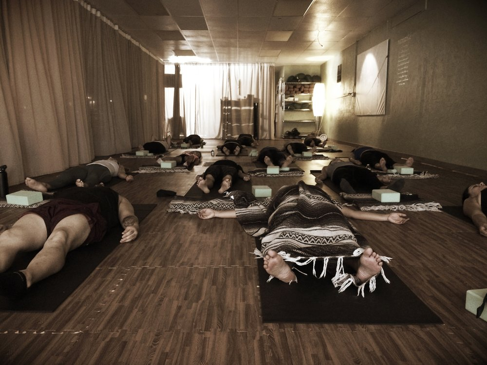 Private class in Lomita CA in 2017 enjoying Savasana : ))
