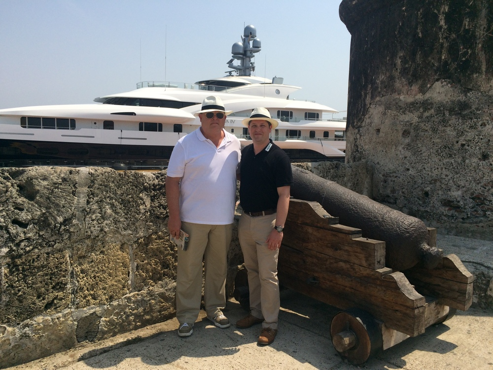 Don Bernardo and Chris visiting Cartagena!!