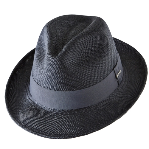 80c3a91e7243f Panama hat Short Brim Black Fedora Men  Woman. 037 C114BC Black Fedroa.jpg