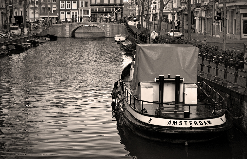 Canal Boat, Amsterdam