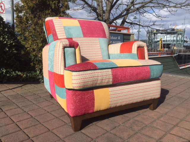 custom patchwork overstuffed chair.JPG