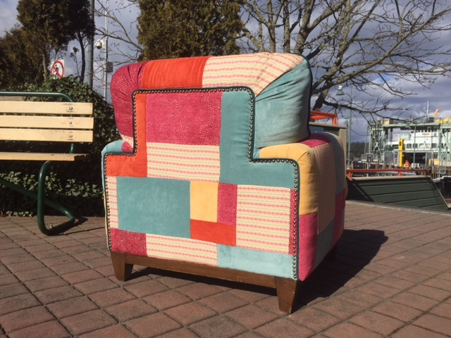 custom patchwork overstuffed chair BACK.JPG