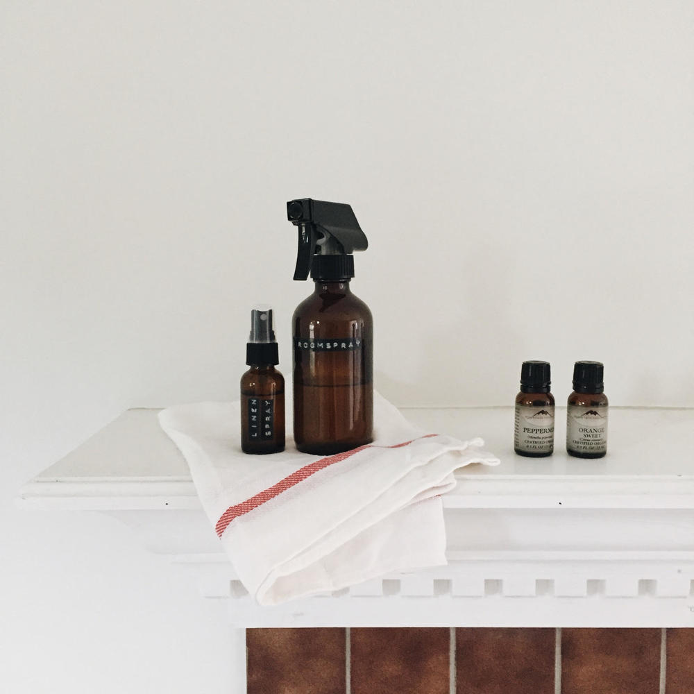 Peppermint + Orange Room Spray and Lavender Linen Spray