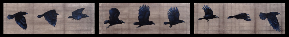 """As The Crow Flies"", 3 - 8"" x 24"" - oil and acrylic on canvas"
