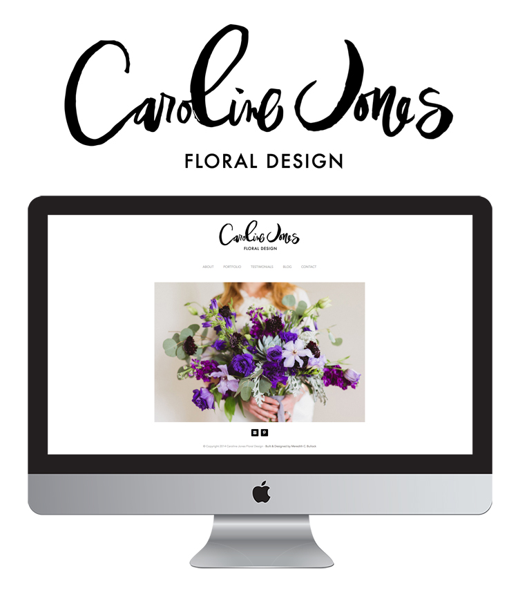 Caroline Jones Website + Logo by Meredith C Bullock