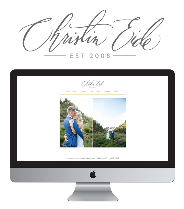 Christin Eide Website + Logo by Meredith C Bullock