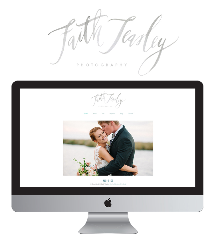 Faith TEasley Website + Logo by Meredith C Bullock - blog