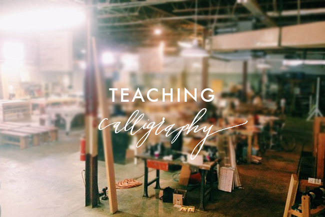TEACHING-Calligraphy