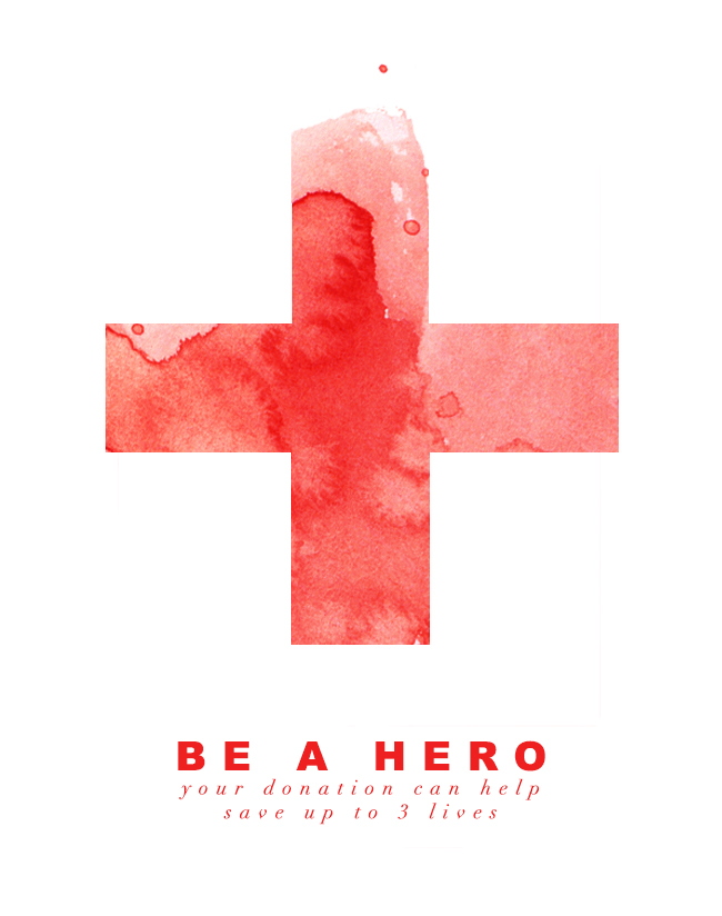 Be A Hero, Donate Blood