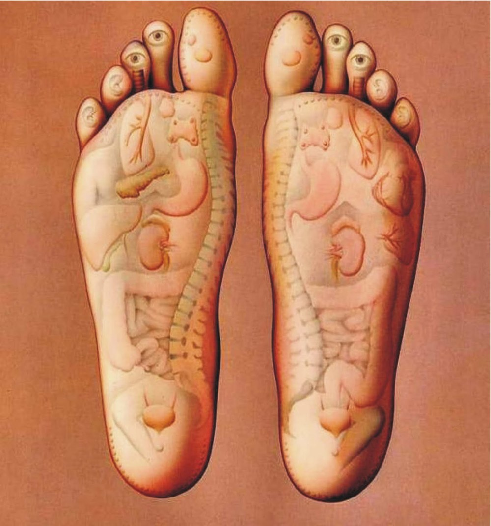 What your feet look like from my eyes... or from eyes of Acupressure.