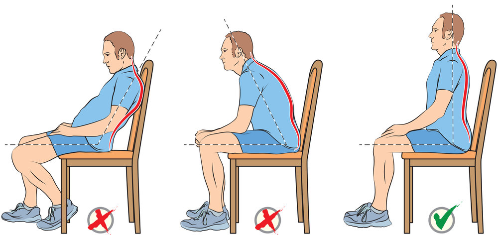 Notice how habits can alter posture, weight load, & strain.