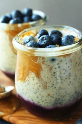 Almond Butter & Jelly Chia Seed Pudding
