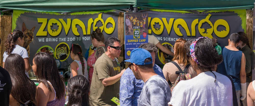 Our booth always draws a crowd! | Earth Day, 2017