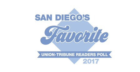 "San Diego Union Tribute - Voted as a local ""favorite"""