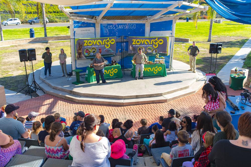 Zovargo providing programming for Navy Families at Naval Base San Diego