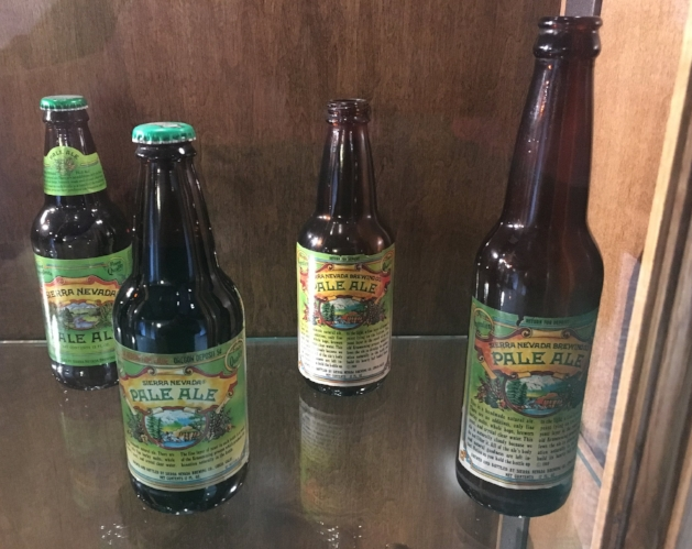 Bottles from throughout Sierra Nevada's history.