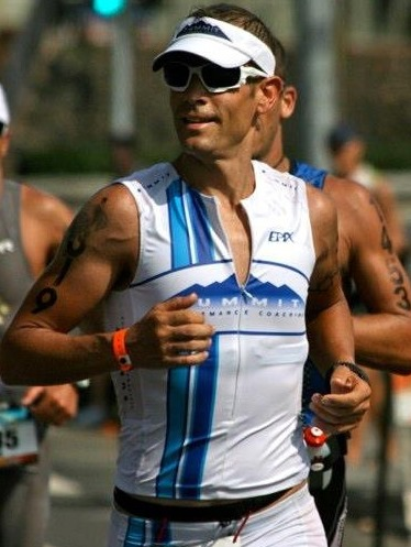 Aleck on his way to a 9:26, IM Worlds, Kona, HI