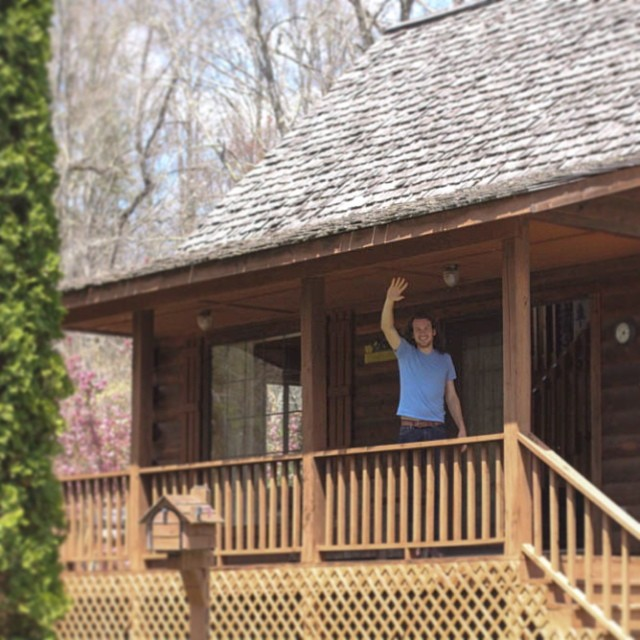 our anniversary cabin in Cherokee