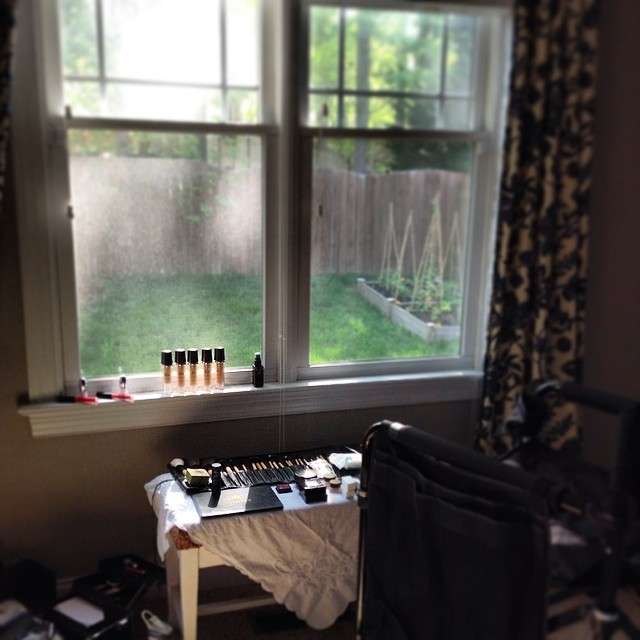 makeup station for the SW editorial!