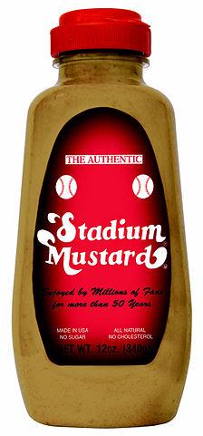"""Stadium Mustard"" by Source (WP:NFCC#4). Licensed under Fair use via Wikipedia - http://en.wikipedia.org/wiki/File:Stadium_Mustard.jpg#/media/File:Stadium_Mustard.jpg"