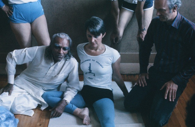 BKS Iyengar with Ingelise in Vancouver in the early 1980s.