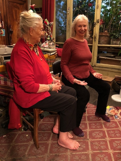 Noelle at 93, still capable of putting people on the joyful line of gravity.