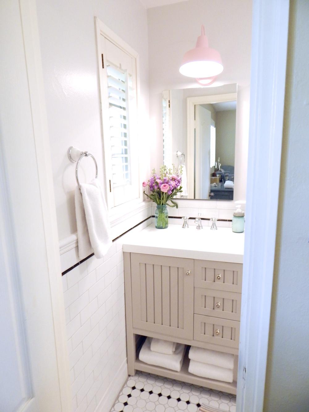Tiny Bathroom Remodel - Love and Specs