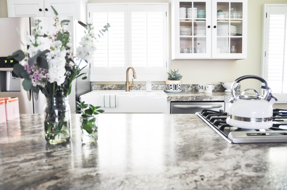 bright kitchen formica countertops
