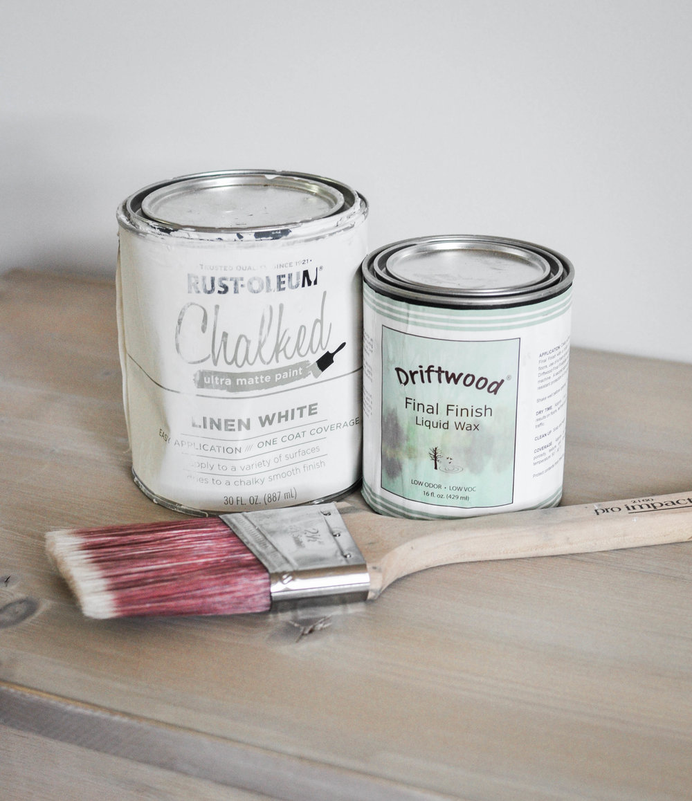ikea nightstand DIY paint supplies